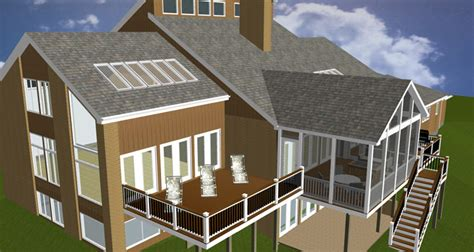 the eye of artful design potomac md home home with a screened porch and multiple decks
