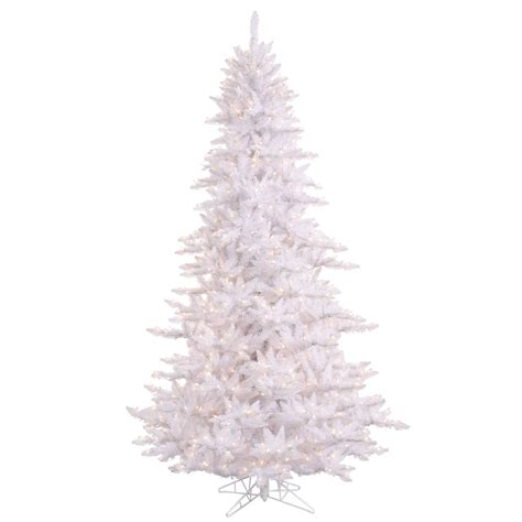 10 foot white fir christmas tree clear lights k120286