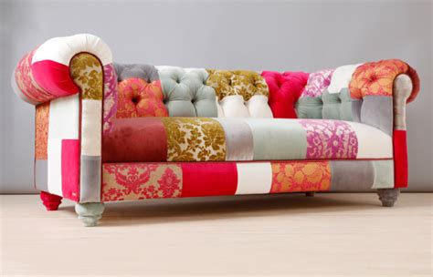 Pink And Green Sofa by One Of A Pieces Of Exciting Patchwork And Upcycled