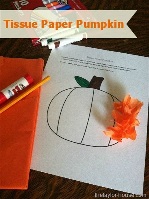 Fall Construction Paper Crafts - fall craft tissue paper pumpkin the house
