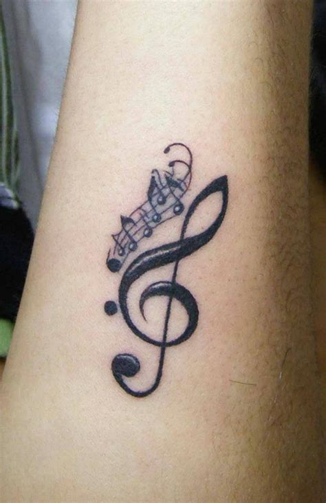music designs tattoos