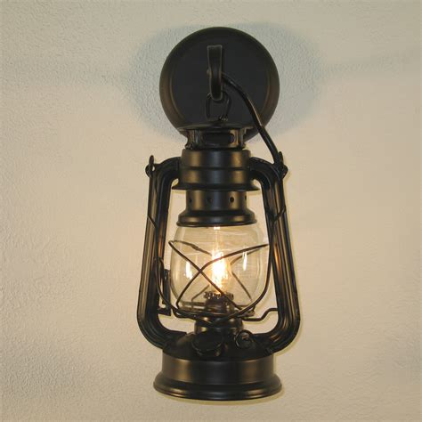 small black lantern wall sconce