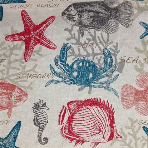 Sea Upholstery Fabric by Sea Fabric And Turquoise Coastal Fabric