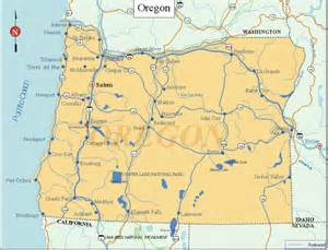 maps of oregon state