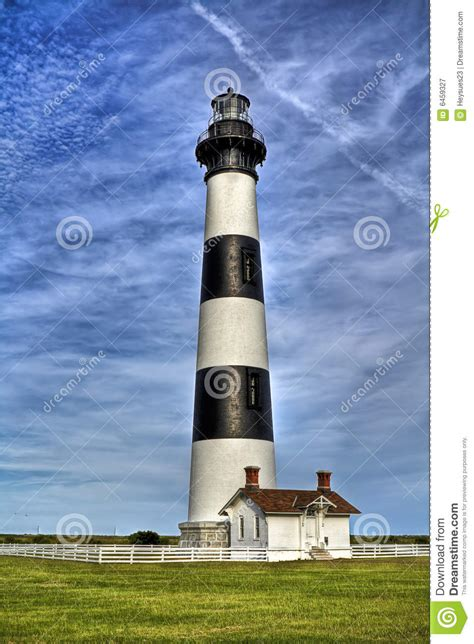 Black And White Striped Lighthouse Royalty Free Stock