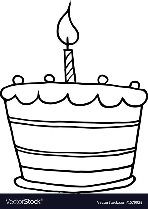 free vector clipart images birthday cake royalty free vector image