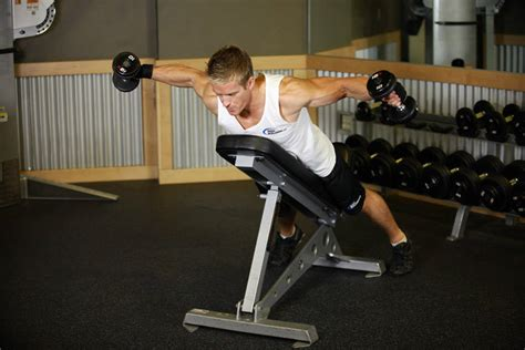 incline bench flyes reverse flyes exercise guide and video