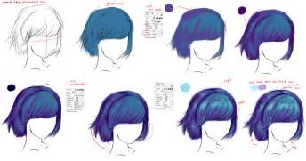 how to color anime hair how to draw hair by ryky on deviantart