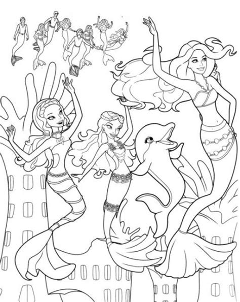 hard girly coloring pages girls coloring pages barbie mermaid color pinterest