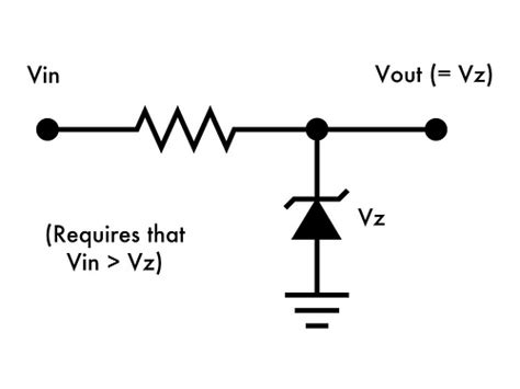 what do diodes do in a circuit why does the voltage of a zener diode match the voltage at vout electrical engineering stack
