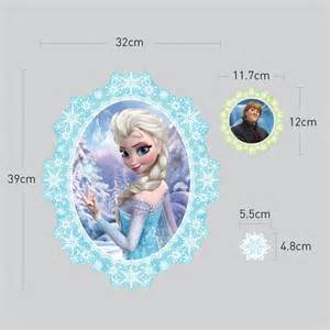 Disney Frozen Wall Stickers disney frozen elsa and anna wall stickers wallstickery com
