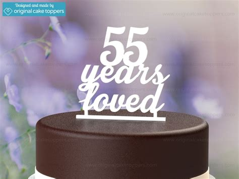 years loved white  birthday cake topper original cake toppers