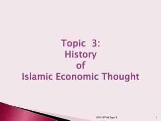 History Of Economic Thought Essay Topics by Ppt Islamic History Powerpoint Presentation Id 2279271