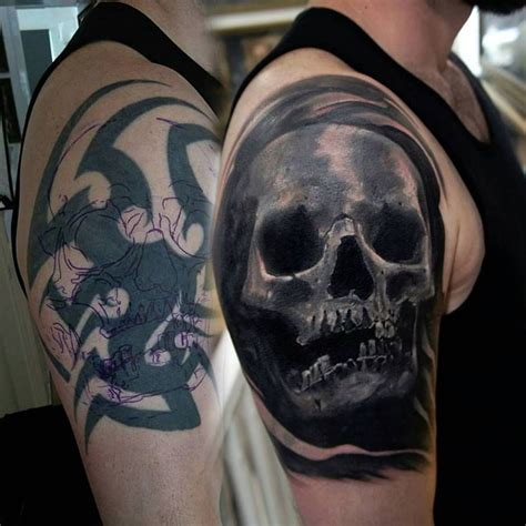 nasty tattoos skull cover up by seb limited availability