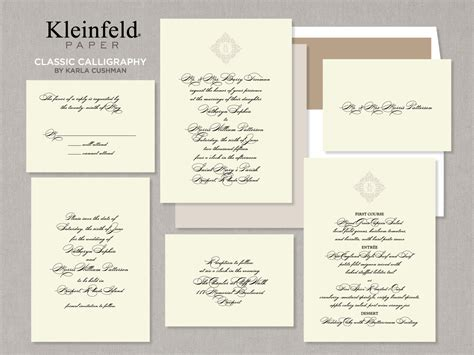 kleinfeld bridal wedding invitations invitations