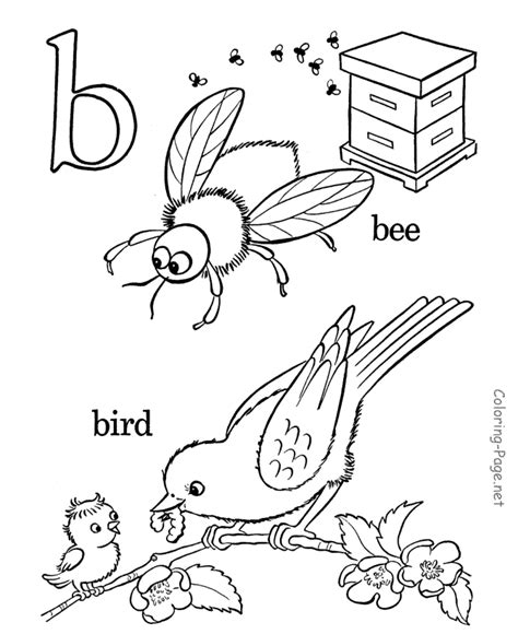 coloring page for letter b alphabet coloring pages letter b