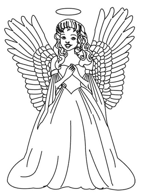 coloring pages of christmas angels girls coloring and angel on pinterest