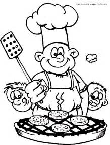 cook coloring clipart