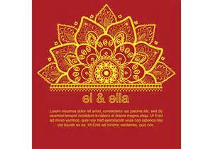 Indian Wedding Card Templates Free indian wedding card template free vector