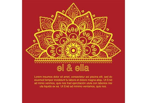 free vector invitation card template indian wedding card template free vector