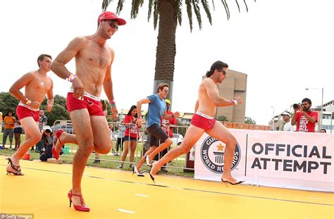 the of running in heels cupid s undie run sees runners race wearing only their