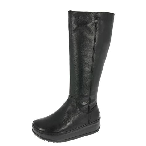 fitflop superboot black leather shoetique free delivery