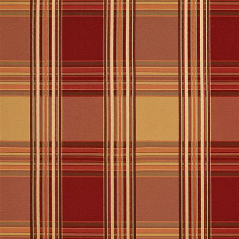 expensive upholstery fabric red gold shiny striped plaid luxurious faux silk