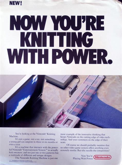 Would You Let Your Learn From A Nintendo Ds by This Lost Nintendo Knitting Machine Would Let