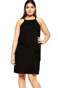 black plus size curve tiered swing dress lc22617 in