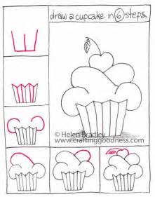 How to draw a cupcake in 6 steps draw a cupcake in 6 easy steps