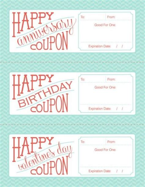 anniversary coupon template free downloadable fillable printable coupons for