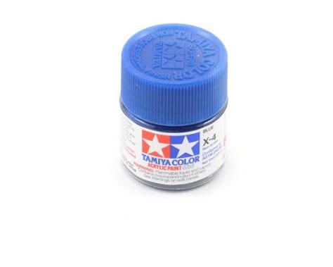 Tamiya Acrylic Paint X 4 Blue tamiya 81504 tamiya acrylic mini x 4 blue