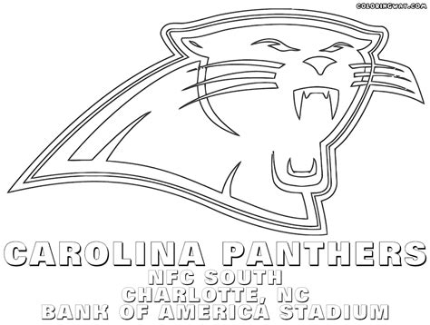 carolina panthers coloring page az pages sketch coloring page
