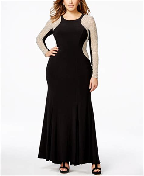 beaded illusion gown plus size xscape plus size beaded illusion hourglass gown dresses