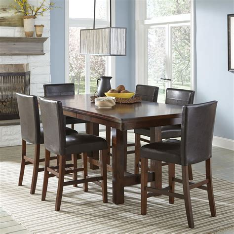 dining bench with wood seat by intercon wolf counter height dining set with parsons stools by intercon