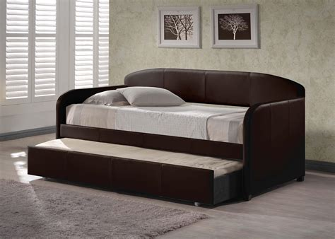 daybeds with pop up trundle bed leather daybed with pop up trundle bed thenextgen furnitures stylish daybed with