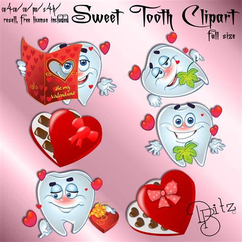 Valentines Sweet Tooth by Sweet Tooth Valentines Cu Clipart
