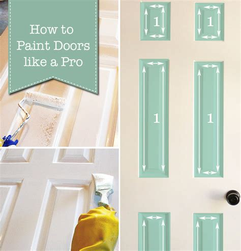 How To Paint Doors The Professional Way Pretty Handy Girl Painting Interior Doors Brush Or Roller