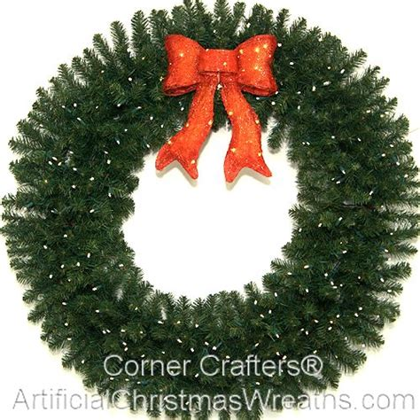 48 inch deluxe led lighted christmas wreath