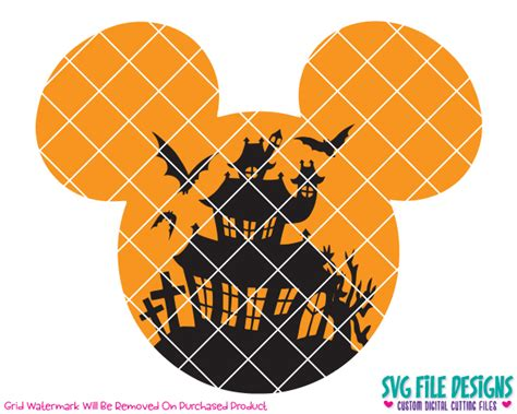 mickey haunted house mickey mouse haunted house halloween svg cut file set