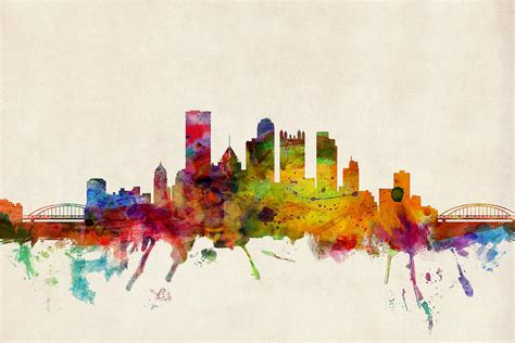 pittsburgh pennsylvania skyline digital art by michael