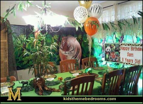 jungle theme birthday decoration ideas decorating theme bedrooms maries manor theme