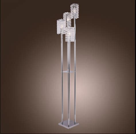 Modern Floor Standing Lamps by Modern Crystal Floor Lamp Stainless Steel Led Lamps Cool