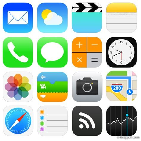 Image Gallery icons ios 7 iphone apps