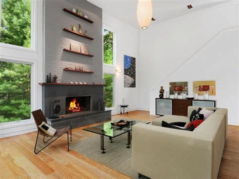 floor charcoal brick fireplace painted 15 gorgeous painted brick fireplaces hgtv s decorating