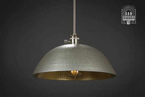 L Shade Light Fixture Hammered Shade Gold Brushed Nickel L Pendant Light Fixture