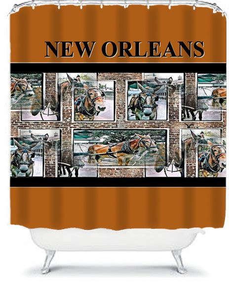 new orleans curtains new orleans mules shower curtain shower curtains by