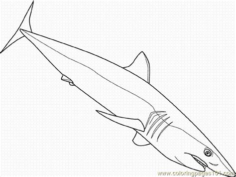 mako shark pages coloring pages
