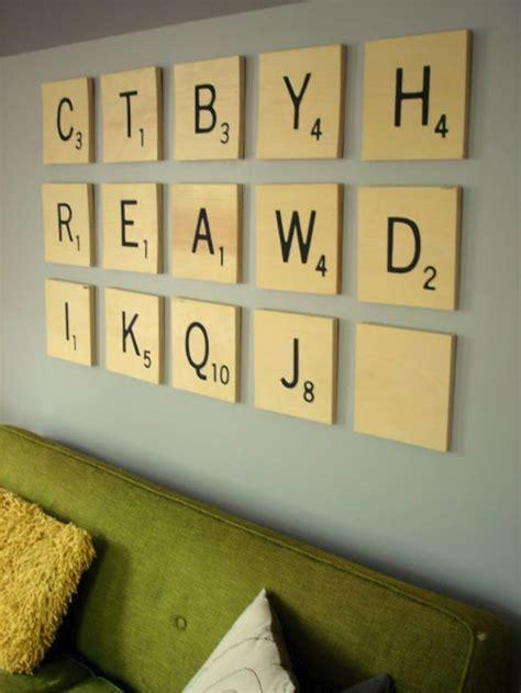 scrabble wall tiles diy 76 brilliant diy wall ideas for your blank walls