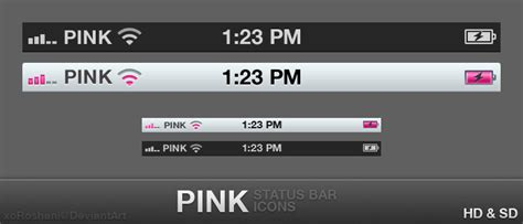themes status bar iphone pink status bar by xoroshani on deviantart